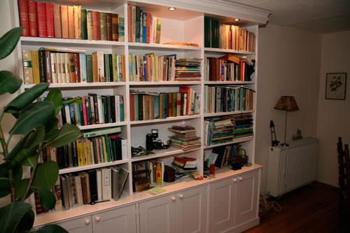 zelf een boekenkast maken kast boekenkast steigerhout wandmeubel