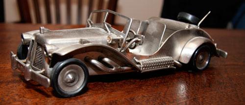 miniatuur metalen auto